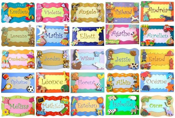 Plaques de porte chambre enfant billes de clowns for Decoration d une porte de chambre