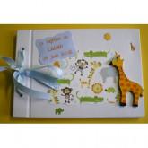 Livre d'or baptême petit garçon-girafe