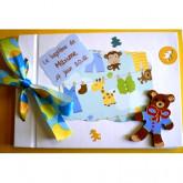 Livre d'or baptême petit garçon-ourson