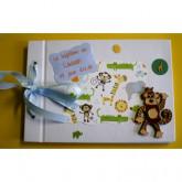 Livre d'or baptême petit garçon-singe