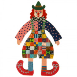 clown patchwork billes de clowns. Black Bedroom Furniture Sets. Home Design Ideas