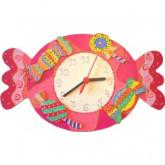 Horloge enfant personnalisée bonbon
