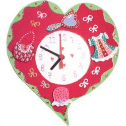 Horloge enfant personnalisée coeur
