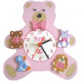 Horloge enfant personnalisée doudou tendresse