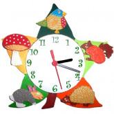 Horloge enfant personnalisée feuille