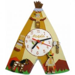 Horloge enfant personnalisée indien