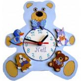Horloge enfant personnalisée les doudous