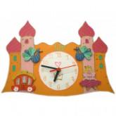 Horloge enfant personnalisée château princesse