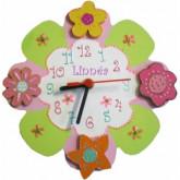 Horloge enfant personnalisée tendresse