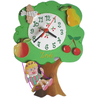 horloge enfant personnalis e arbre billes de clowns. Black Bedroom Furniture Sets. Home Design Ideas