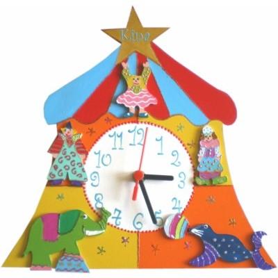 horloge enfant personnalis e cirque billes de clowns. Black Bedroom Furniture Sets. Home Design Ideas