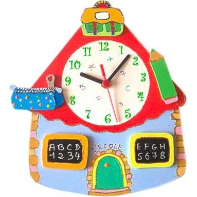 horloge enfant personnalis e cole billes de clowns. Black Bedroom Furniture Sets. Home Design Ideas