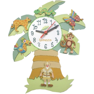 Horloge la jungle