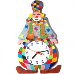 horloge murale enfant clown ampoule billes de clowns. Black Bedroom Furniture Sets. Home Design Ideas