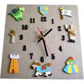 Horloge enfant chevalier lin