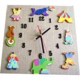 Horloge enfant cirque lin