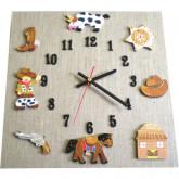 Horloge enfant cowboy lin