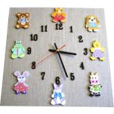 Horloge enfant doudous lin
