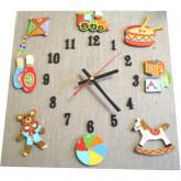 Horloge enfant jouets lin