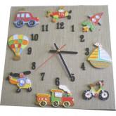 Horloge enfant voyage lin