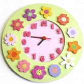 Horloge la ronde des fleurs