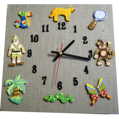 horloge enfant la jungle lin billes de clowns. Black Bedroom Furniture Sets. Home Design Ideas