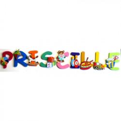 Lettres bois prénom les jouets