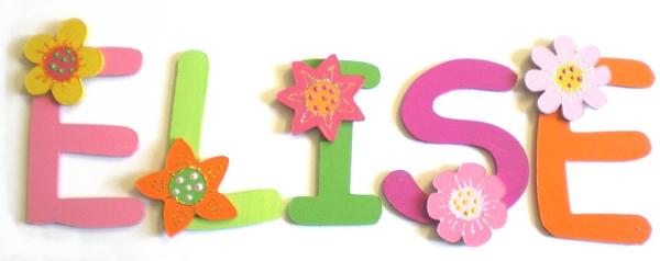 lettres pour prénom thème fleurs - billes de clowns