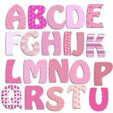 Lettres alphabet fille