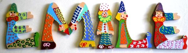 Lettres clowns pour Emile 1