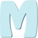 Lettre en bois M