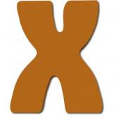 Lettre en bois X