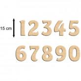 Chiffre en bois à peindre 15 cm (prix à l'unité)