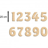 Chiffre en bois à peindre 25 cm(prix à l'unité)
