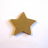 Décoration en bois étoile