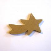 Décoration en bois étoile filante