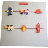 Pêle-mêle personnalisé pompier