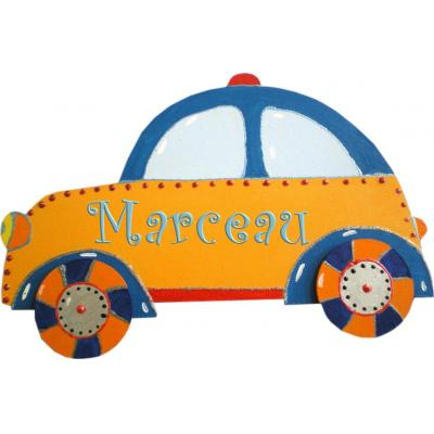 plaque de porte pr nom enfant voiture billes de clowns. Black Bedroom Furniture Sets. Home Design Ideas