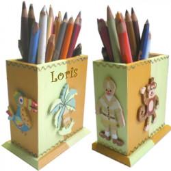 Pot à crayons La jungle