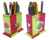 Pot à crayons Petite fille