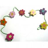 Guirlande porte-photos fleurs