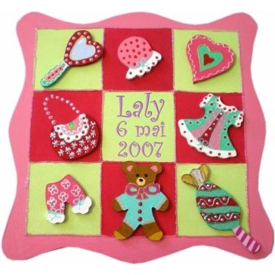 tableau personnalis pour chambre de petite fille billes de clowns. Black Bedroom Furniture Sets. Home Design Ideas