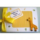 Livre d'or baptême jungle girafe