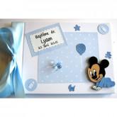 Livre d'or baptême personnalisé bébé Mickey
