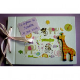 Livre d'or baptême petite fille girafe