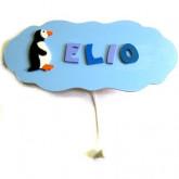 Boîte à musique personnalisée «nuage pingouin»
