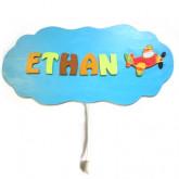 Boîte à musique personnalisée «nuage avion»