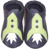 chausson gris fusée verte