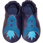 chausson marine fusée bleue