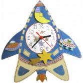 Horloge enfant personnalisée fusée